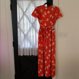 Vintage Dress M/L Flowy Sleeves